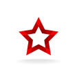Red star logo vector image vector image