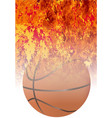roaring flaming basketball vector image