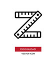 ruler icon in modern style for web site and vector image vector image
