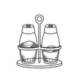 salt and pepper containers monochrome silhouette vector image vector image