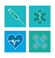 set healthcare medical symbol vector image
