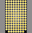 set of flat round game buttons in cartoon style vector image vector image