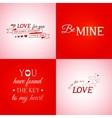 Set of typographic design elements vector image