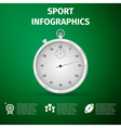 Sport infographics icon Stopwatch infographics vector image
