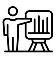 statistic authority icon outline style