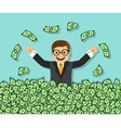 Success and wealth vector image vector image