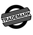 trademark black stamp vector image