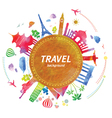 Travel background with watercolor effect vector image