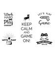 video games labels set arcade game room vector image