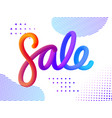 volume gradient colored figures sale vector image vector image