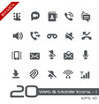 web and mobile icons-1 - basics vector image