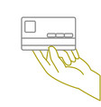 yellow line business electronic credit card in the vector image