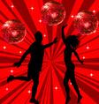Man and woman dancing vector image