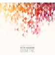 Abstract color triangles poster vector image