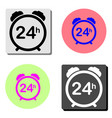 24 hour steady available services flat icon vector image vector image