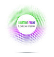 abstract circle green and purple gradient halftone vector image vector image