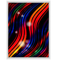 Abstract colourful wave panel vector image vector image