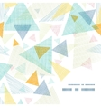 abstract fabric triangles frame corner pattern vector image vector image