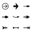 arrow icons set simple style vector image vector image