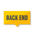back end price tag vector image vector image