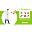 banner chef cooking vector image