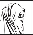 beautiful muslim woman with hijab isolated vector image