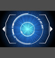 blue technology inside spaceship background vector image vector image