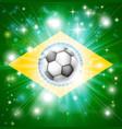 brazil soccer flag vector image vector image