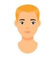cartoon character blond man guy with fair hair vector image