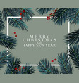 christmas tree fir greeting card great vector image