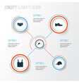 Clothes icons set collection of briefs elegance vector image