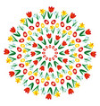 colored circular round easter spring mandala vector image vector image