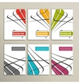 Colorful abstract lines on a white background vector image vector image