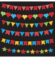 Colorful bunting flags and garlands vector image vector image