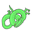 comic cartoon dragon vector image