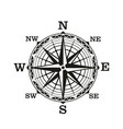 compass wind rose vintage nautical vector image vector image