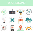 Drone Flat Icons vector image