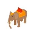 Elephant icon isometric 3d style vector image
