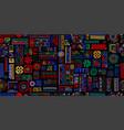 ethnic handmade ornament seamless pattern vector image vector image