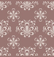 floral seamless pattern brown ornament vector image vector image