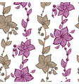 floral seamless pattern with vertical lines in vector image