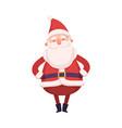 funny santa claus cute christmas and new year vector image vector image