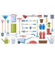 gardening tools garden work equipment shovel vector image