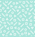 geometric seamless pattern with different figures vector image