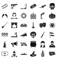 glasses icons set simle style vector image vector image