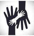 Help design human hand icon Flat vector image
