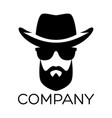 hipster man logo vector image vector image