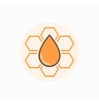 Honeycomb flat icon vector image vector image