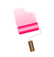 icon paint roller vector image vector image