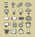 Icons Hand Drawn 1 vector image vector image